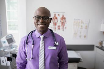 Smiling doctor in office
