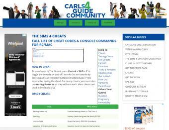 Screenshot of The Sims 4 Money Cheats