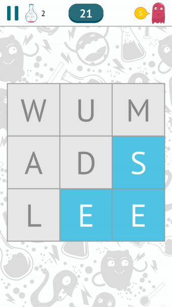 Screenshot of Fill the Words