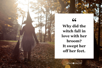 witch walking into the light in the forest