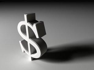 three-dimensional dollar sign