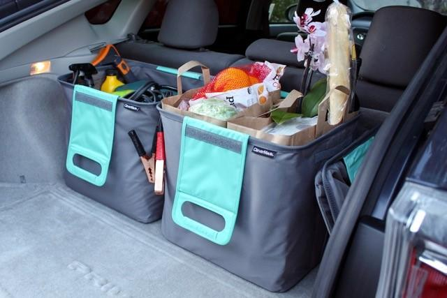 CleverMade Trunk Caddy in Car