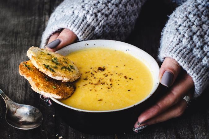 Carrot pumpkin cream soup