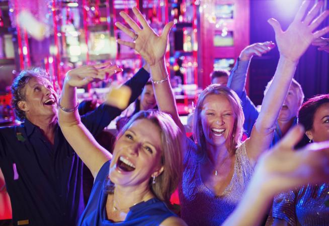 People having fun in nightclub