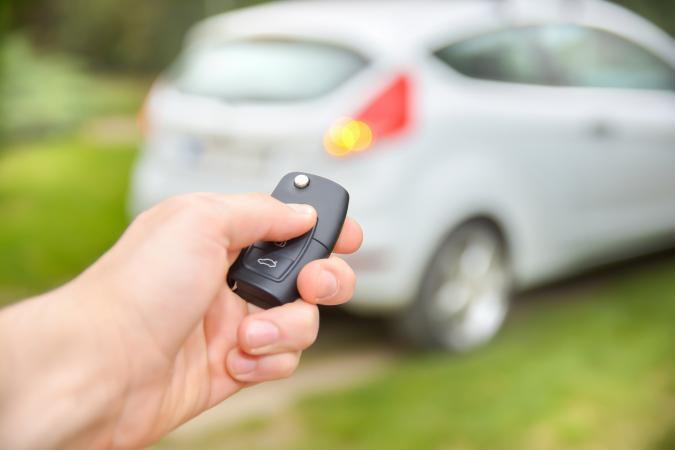 Unlocking car with a remote key