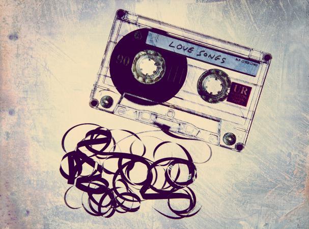 Retro love songs cassette tape
