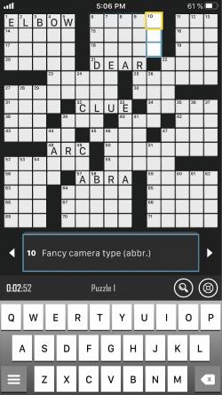 Screenshot of Crossword Puzzle Redstone