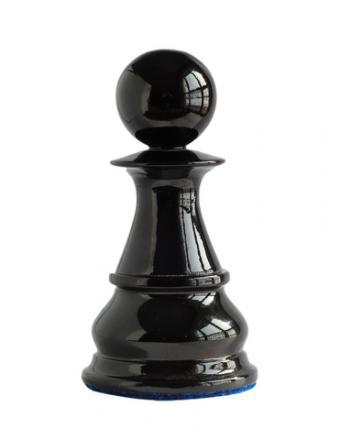 Black chess pawn; Copyright Tatjana Baibakova at Dreamstime.com