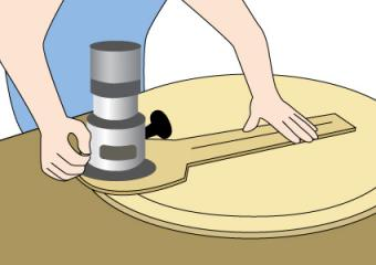 Using a circle router to make a crokinole board