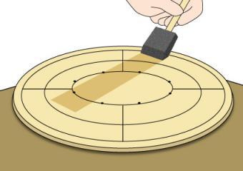 Varnishing a homemade crokinole board