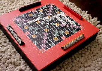 Luxury Leather Scrabble Board from Chic By Design