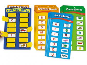Find-the-Match Beginning Phonics Board