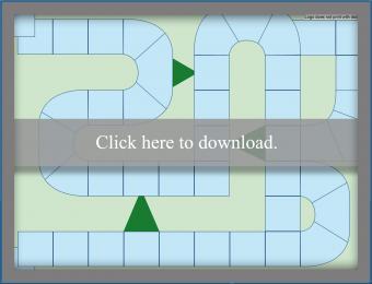 Blank Random Path Game Board