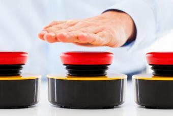 Hand pressing game buzzer