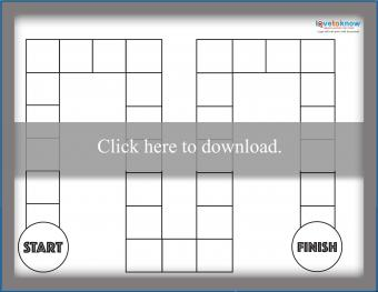 Blank Black and White Game Board
