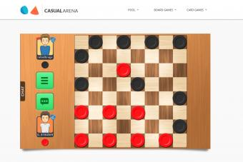 Online Checkers in casual arena