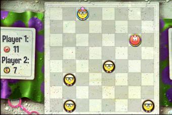 Screenshot of checkers online in kbhgames
