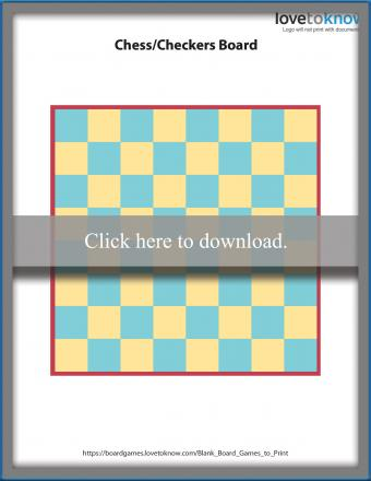 Blank Chess or Checkers Board