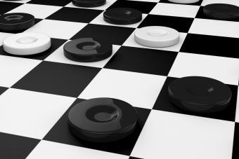 Checkers game, smart move