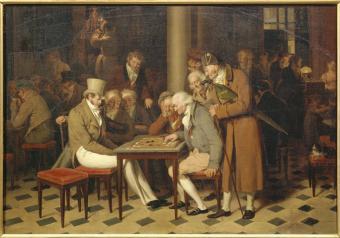 A Game of Draughts at the Cafe Lamblin