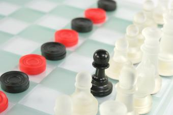 Chess and checkers sharing the board