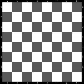 Blank chess board
