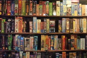 Shelves of board and tabletop games