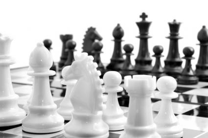 Black and white chess set; Copyright Arsgera at Dreamstime.com