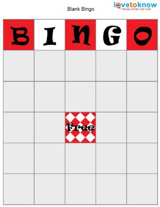 Bingo Game Board Template  Lovetoknow