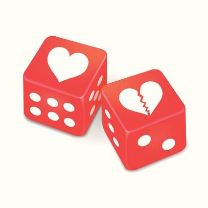 Red love dice