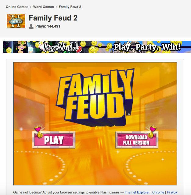 Family Feud Online Games | LoveToKnow