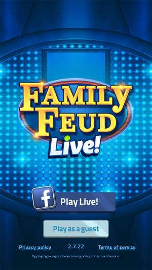 Android screenshot of Family Feud mobile app