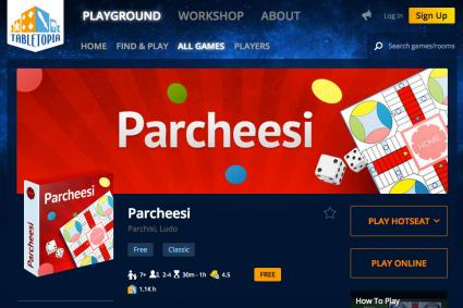 Tabletopia Parcheesi Online Game
