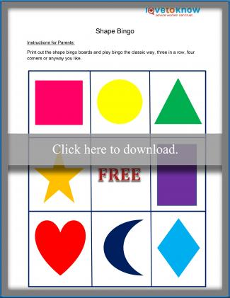image about Shape Bingo Printable named Bingo Match Board Template LoveToKnow