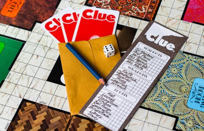 Clue board game 1972