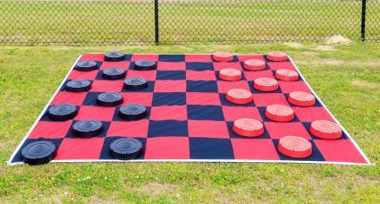 Giant Outdoor Checker Board