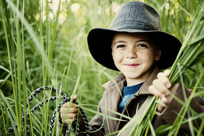 Young boy adveturer
