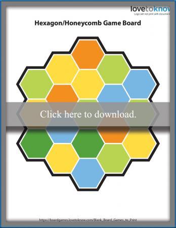 Blank Hexagon Game Board
