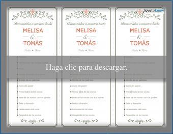 Programa de recepción de bodas
