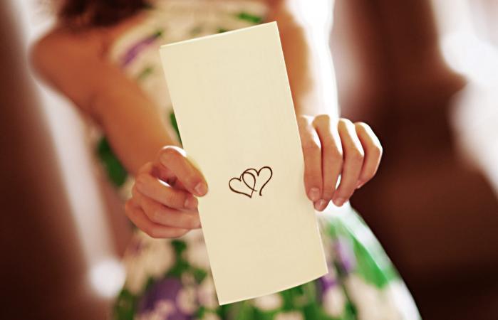 Programa de ceremonia de matrimonio