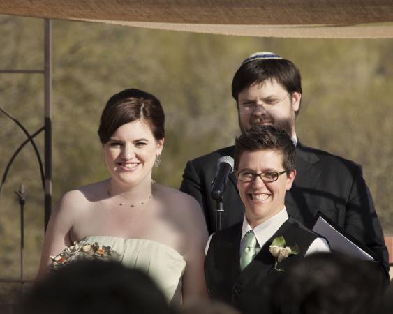 Personas en la ceremonia de boda