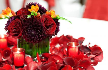 Colores rojos radiantes