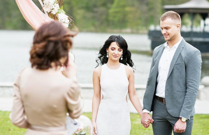Un discurso en una ceremonia de boda