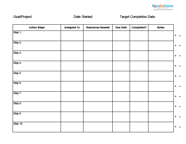 Business   LoveToKnow  Business Action Plan Template
