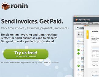 screen shot of http://www.roninapp.com/