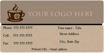 Brown Open Office Business Card Template