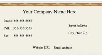 Beige Open Office Business Card Template