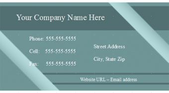 Blue Open Office Business Card Template