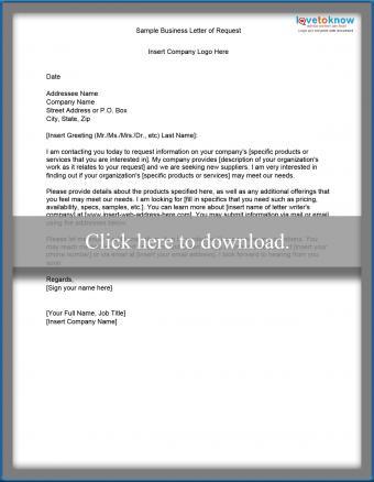 Sample letter requesting information