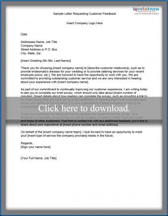 customer feedback request letter